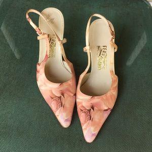 Salvatore Ferragamo sling back heels